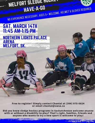 Melfort Sledge Hockey HAG March 2020