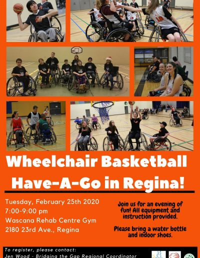 Regina Wheelchair Basketball HAG